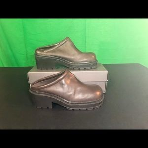 VINTAGE Esprit Elton Chocolate Leather Clog